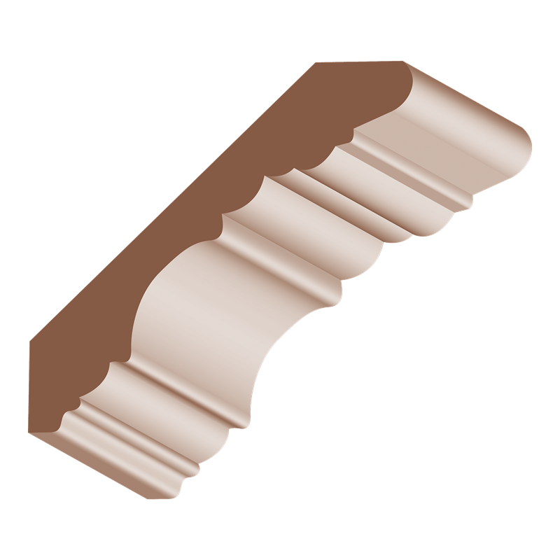 "3/4x4-1/2"" OAK GEORGIAN CROWN - Mission Moulding, Inc."