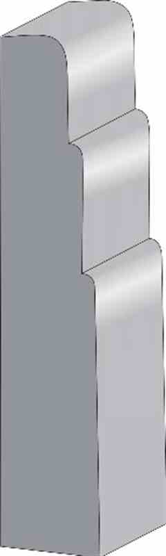 "7/16x2-1/2"" SO.PINE 3-STEP  BASE - Mission Moulding, Inc."