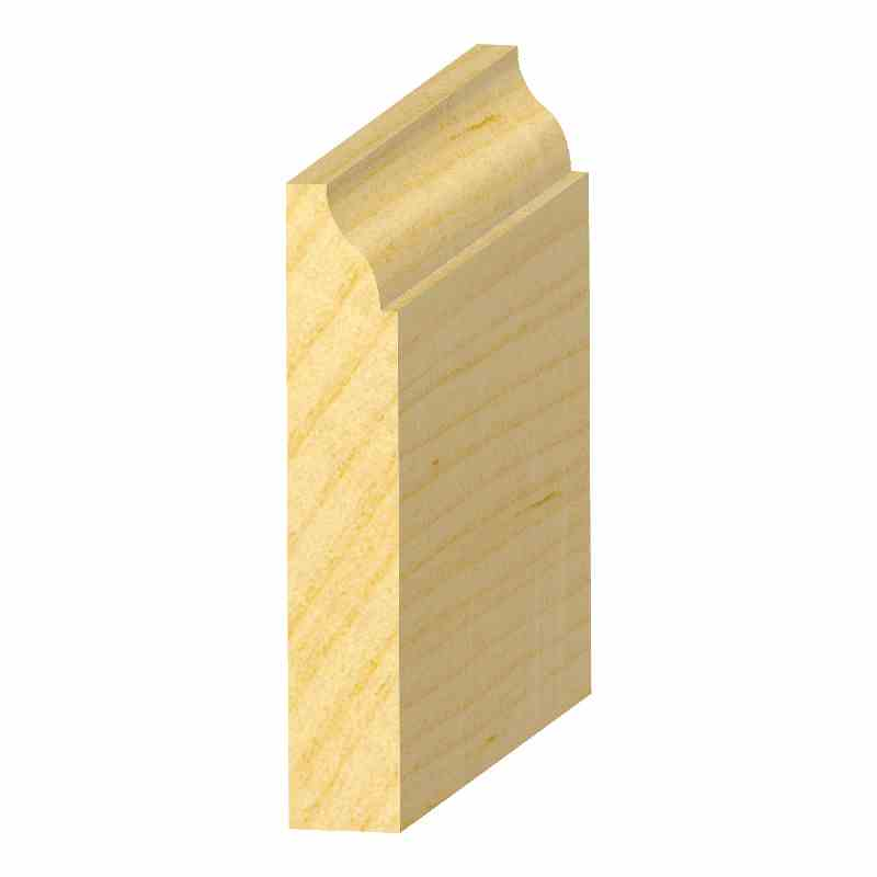 "9/16x3-1/4"" SOLID PINE OGEE BASE - Mission Moulding, Inc."