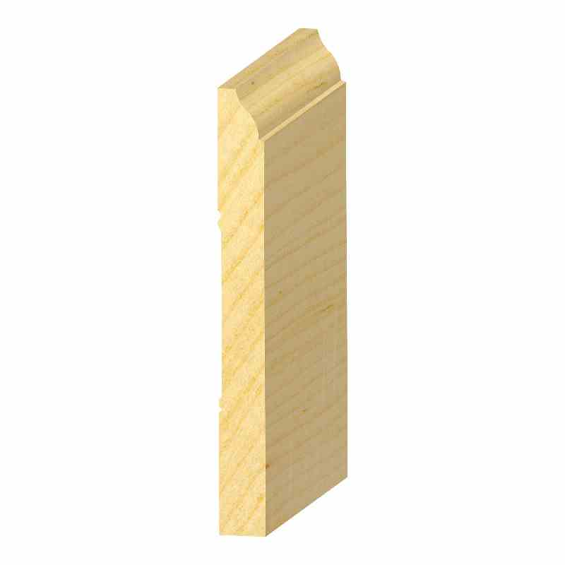 "9/16x5-1/4"" SOLID PINE OGEE BASE - Mission Moulding, Inc."