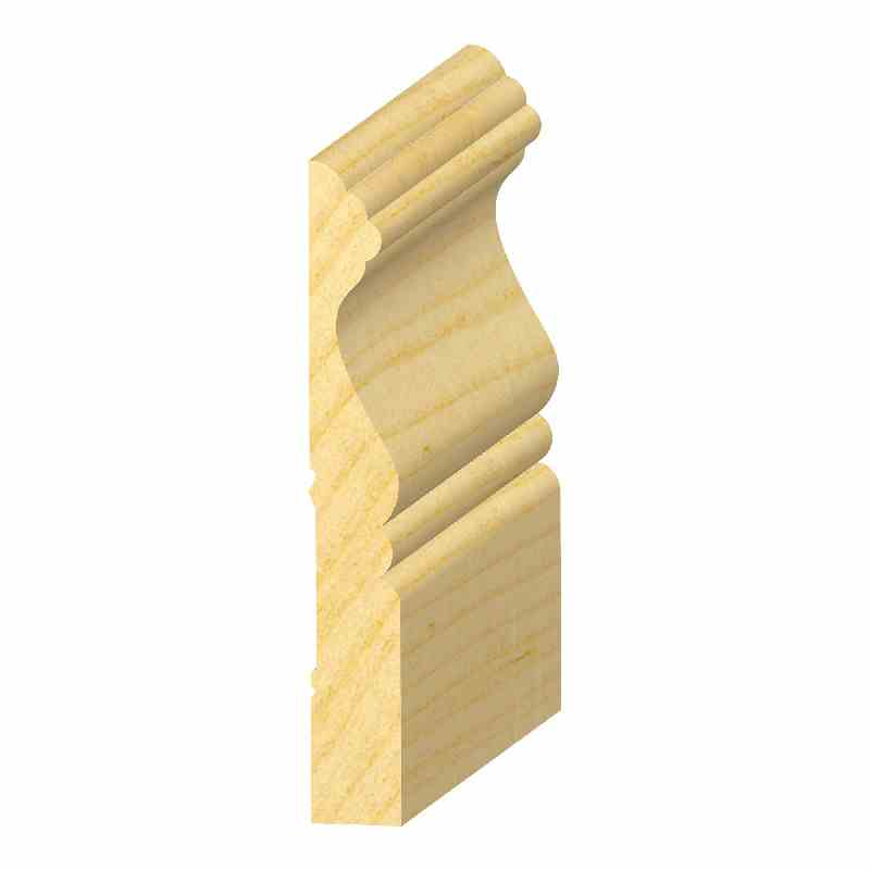 "9/16x4"" SOLID PINE CAPE COD BASE - Mission Moulding, Inc."