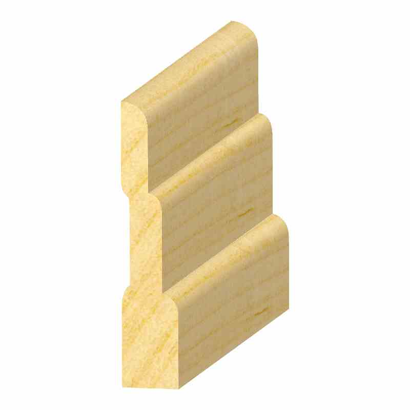 "7/16x2-1/2"" SO. PINE 3-STEP BASE - Mission Moulding, Inc."